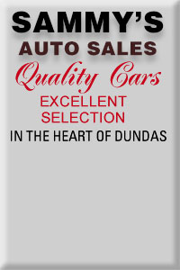Sammys Used Cars Sales in Dundas Ontario