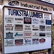 Mill Street Industrial Area Sign