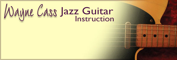 Wayne Cass Jazz Guitar Teacher in Dundas Ontario Classes Available Mondays and Wednesdays