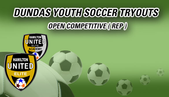 Dundas Youth Rep Soccer Tryouts in Dundas Ontario